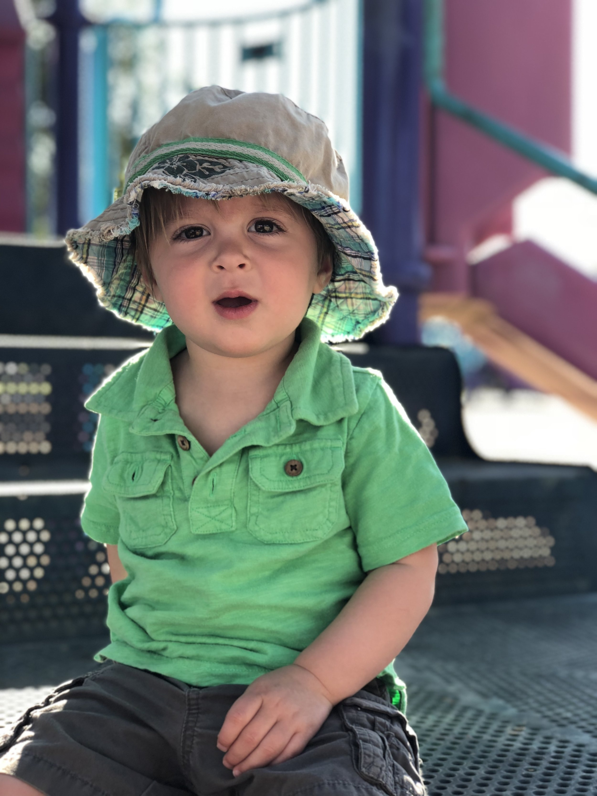 """Professionals use their phones, too:  Lipkin shot this photo of her youngest son, Shane, using her iPhone 8+ in Portrait Mode. """"If the background is messy, iPhone portrait mode is a quick and easy solution."""""""