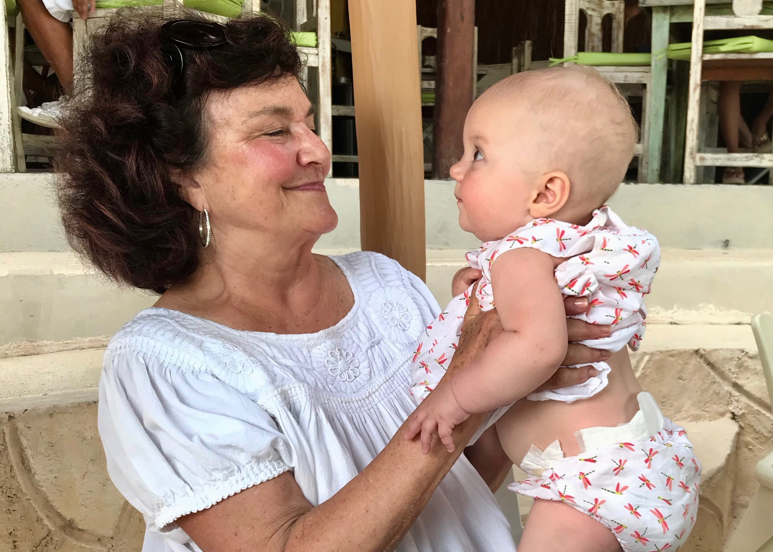 Grandma on duty:  We love our La G, but I wouldn't say her babysitting services are free.
