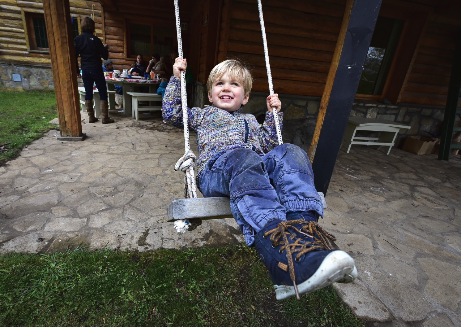 Taking flight  Swinging at Granny's house in San Martin de los Andes, Patagonia. Photo by  Dan Montalbano  (aka our bilingual charmer)