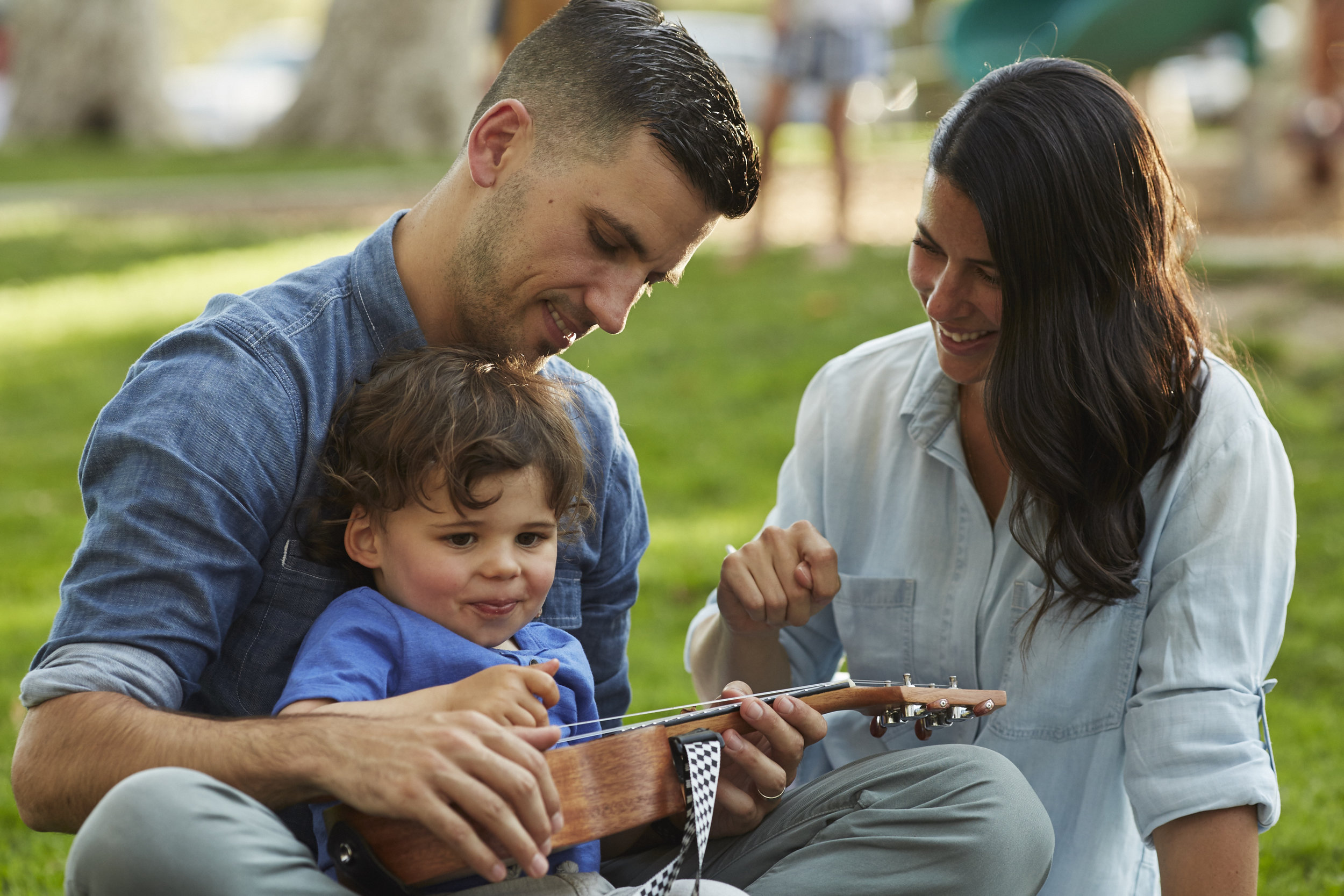 "Play on:  Sarah Diaz with her husband Kyle Pennell and their son Kitson. When asked why she travels with her three-year-old, Diaz says ""I want to raise him to be a global citizen and understand why we need to protect the earth."""
