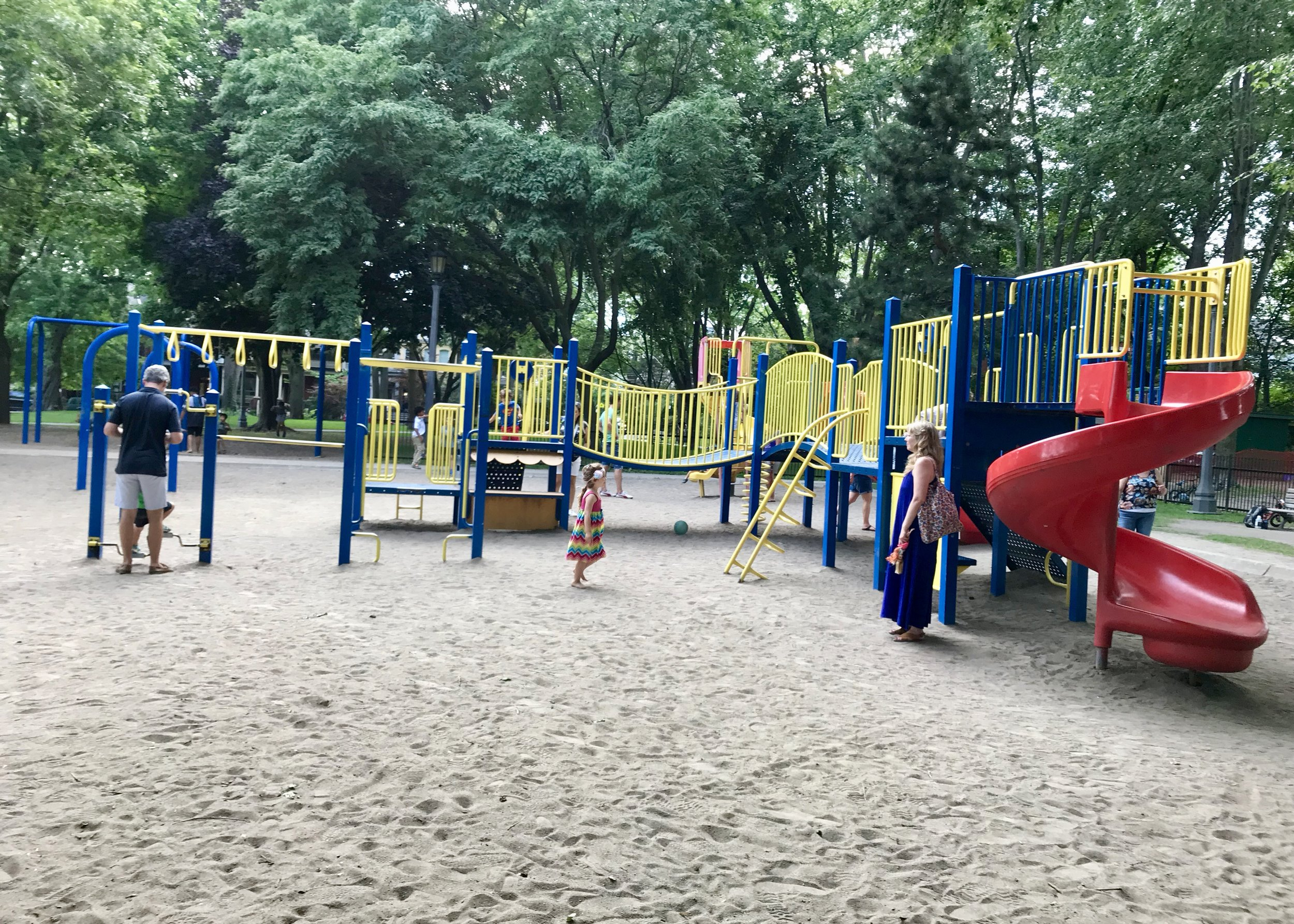 Playground Break:  Swings, slides and more in Trinity Bellwoods Park.