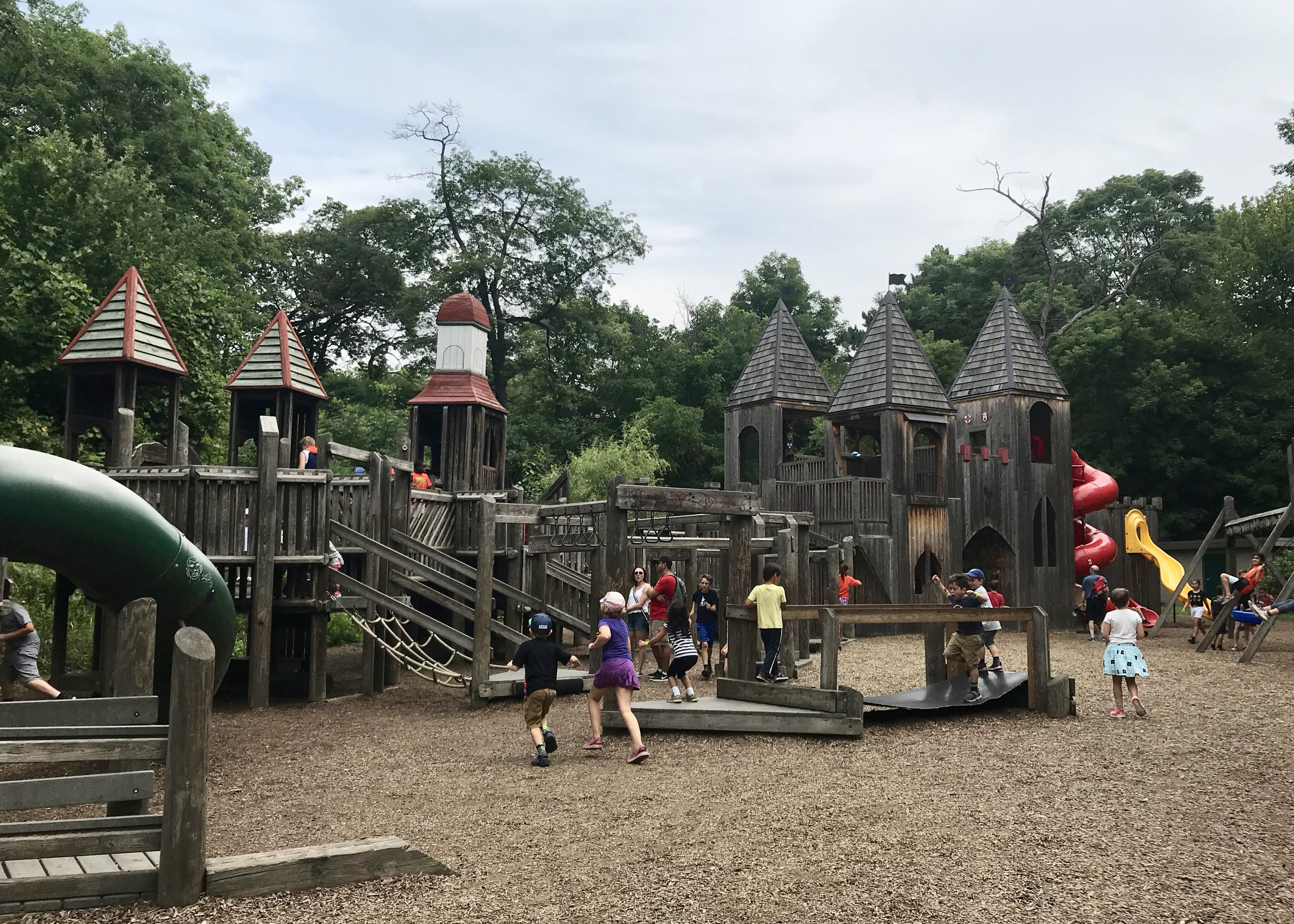 Fit for a Queen:  High Park's playground captures the imagination thanks to turrets, bridges, and winding castle stairs.