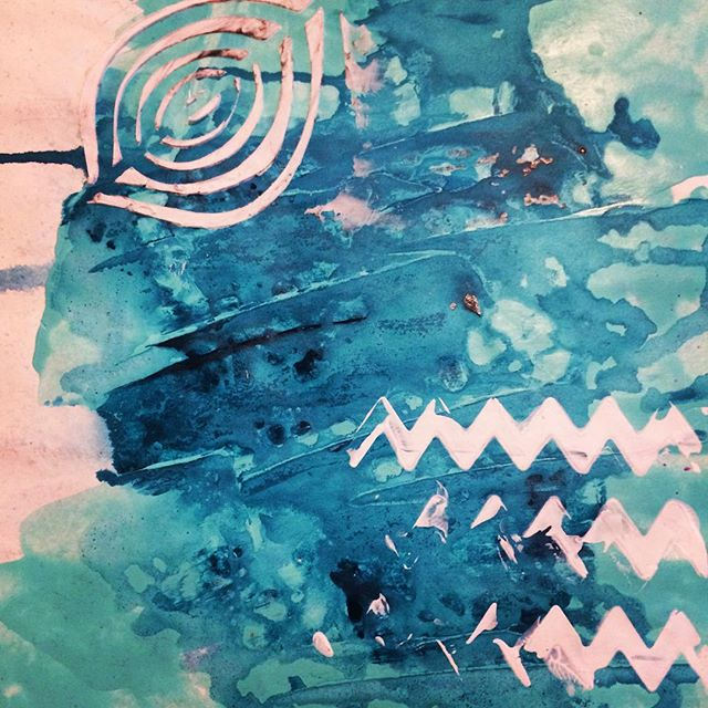 #lighthouseartschool #lighthouseartjournals #artjournaling #blue #loveblue #color #expressiveart #paintwhatyoufeel #artclassesforkids #abstract #norulesinart #oceanfeel