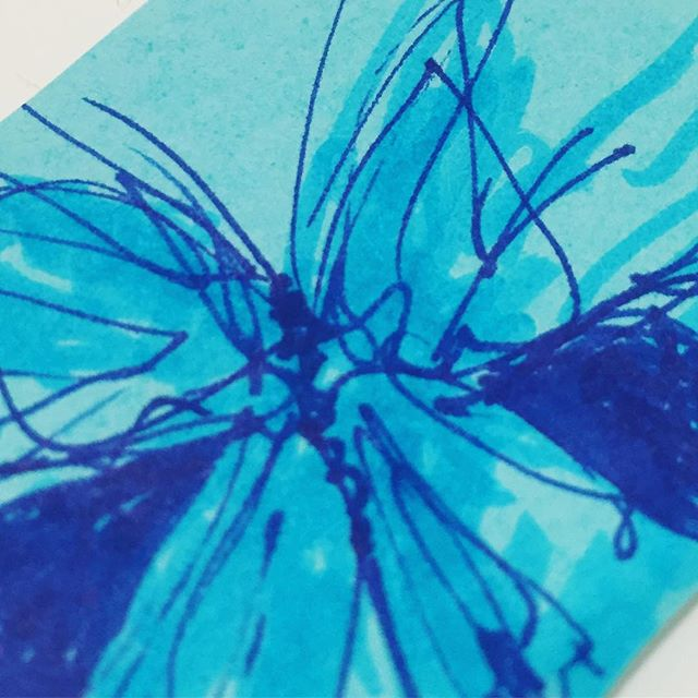 When doodles transform into art. #lighthouseartschool #lighthousejournals #artjournaling #create #butterfly #butterflyart #abstractart #doodlesofinstagram #blue #MAartschool #massachusettsart #artclassesMA #lowellma #lowell #thingstodoinlowellma #expressyourself