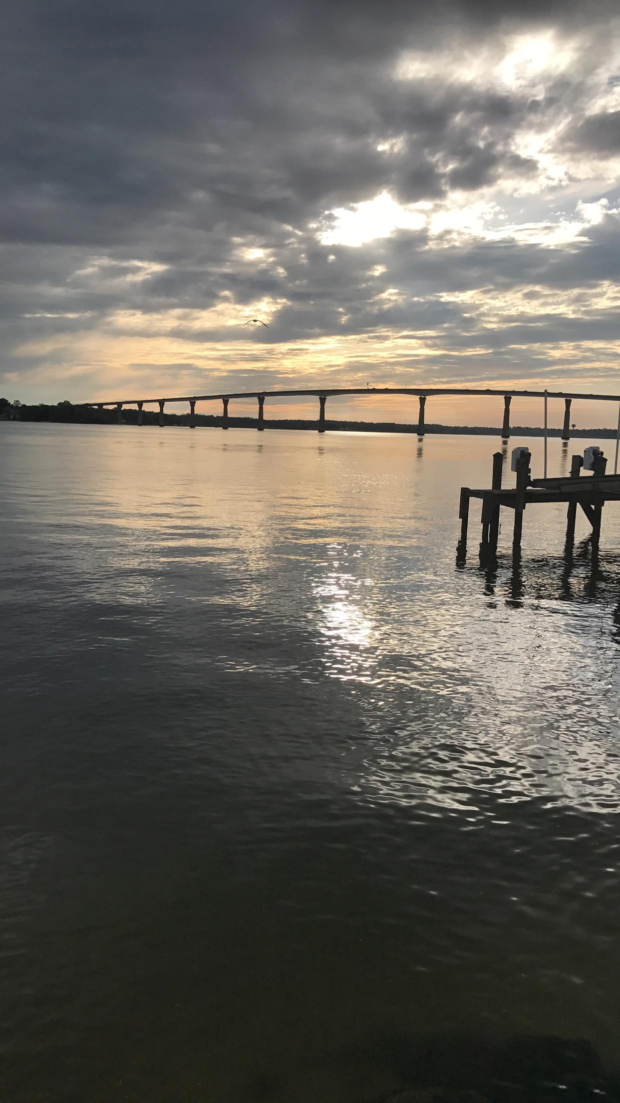 Thomas Johnson Bridge from Solomons Boardwalk