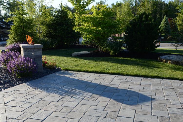 Brick patio with stunning brick pavers in Canton, MI