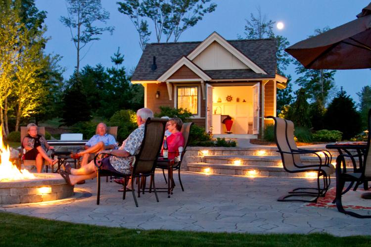 Outdoor fireplace in Troy MI