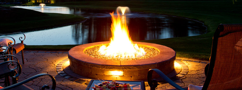Top quality outdoor fireplace in West Bloomfield Township, MI