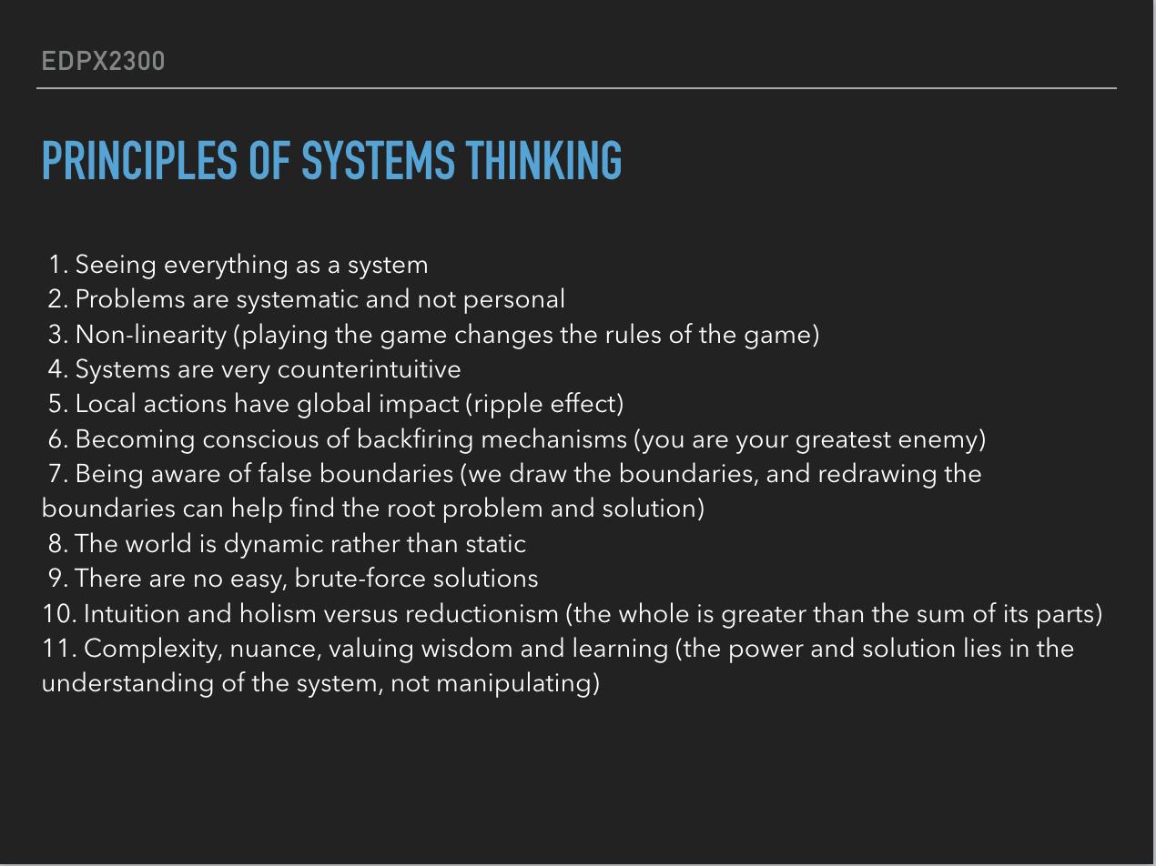 System Thinking 1