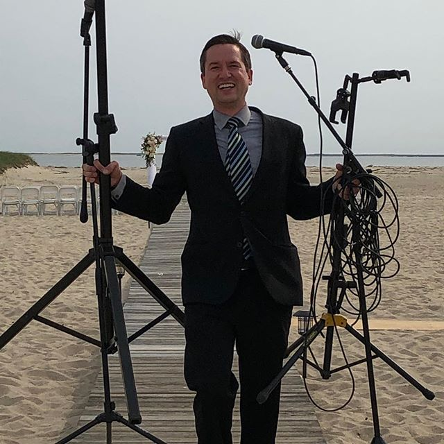 DJ Joe K supplying live music and a PA system on the beach. No power, no problem. We've got batteries for that :) #newenglandeventsdj #capecodwedding #capecodweddingdj #capecoddj #bostonweddingdj #weddingceremonymusic #maweddings #massachusettswedding #kalmarvillage #kalmarvillagewedding #kalmarvillagecapecod