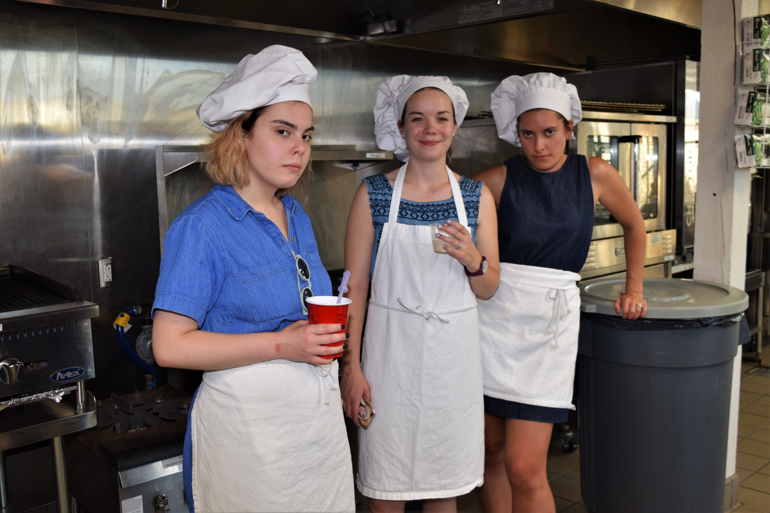 Bachelorette and Maid of Honor taking judging cooking competition seriously