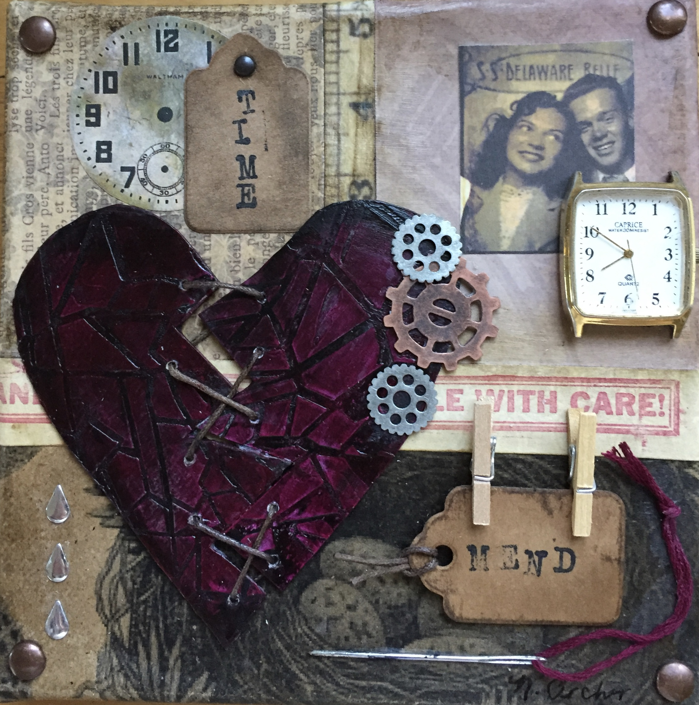 "- Time Mends II6"" x 6"""