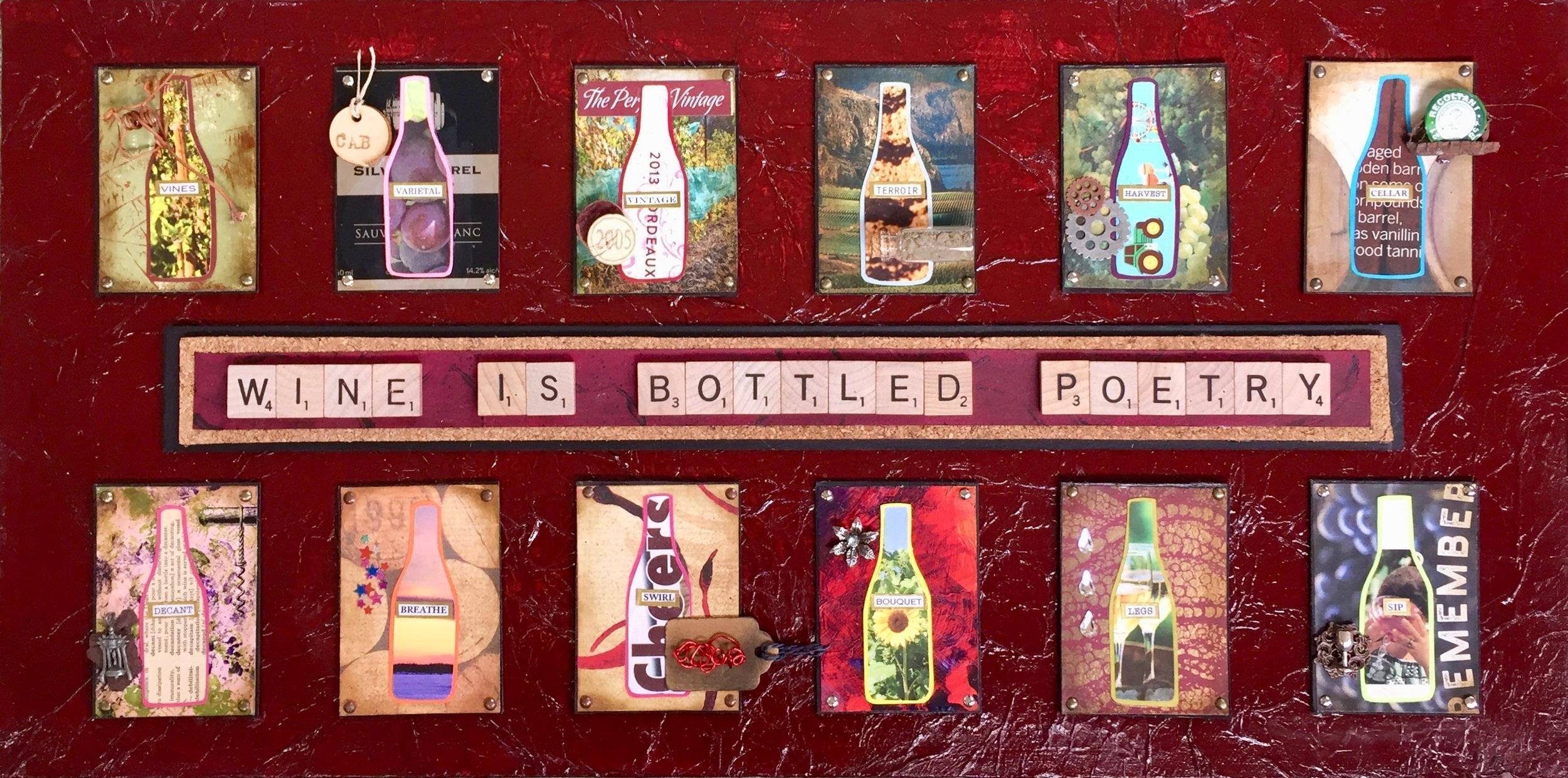"""- Bottled Poetry12"""" x 24"""""""