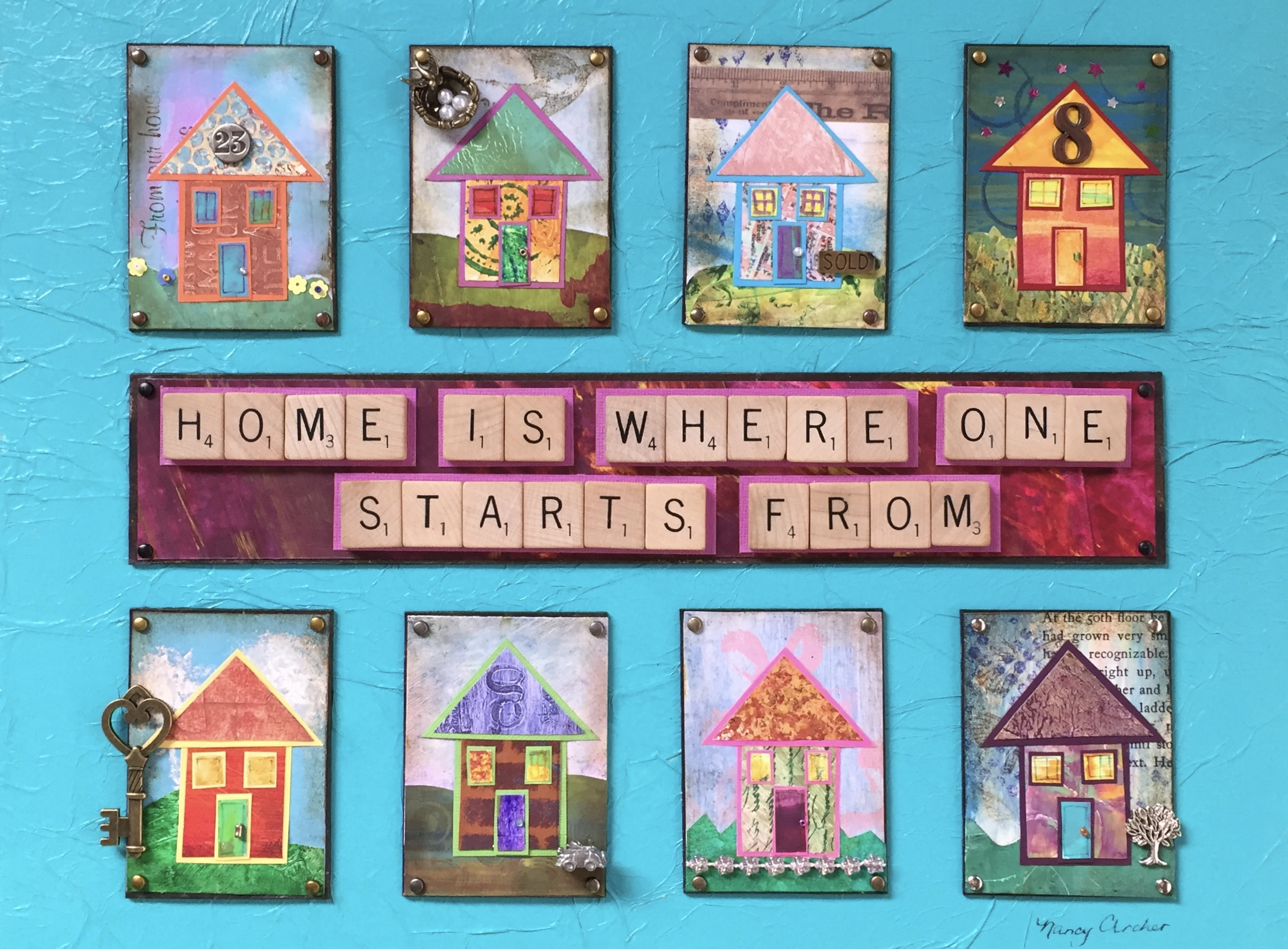 """- Home is Where One Starts From12"""" x 16"""""""