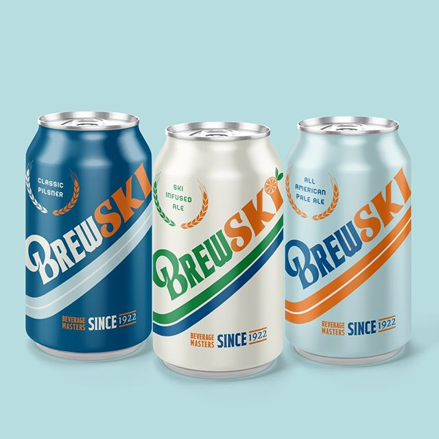 It's time for a BREWSKI. @brewskibeers are for those above the age of 21 who like SKI and drinking beer. Be sure to follow along on the BREWSKI social media pages!