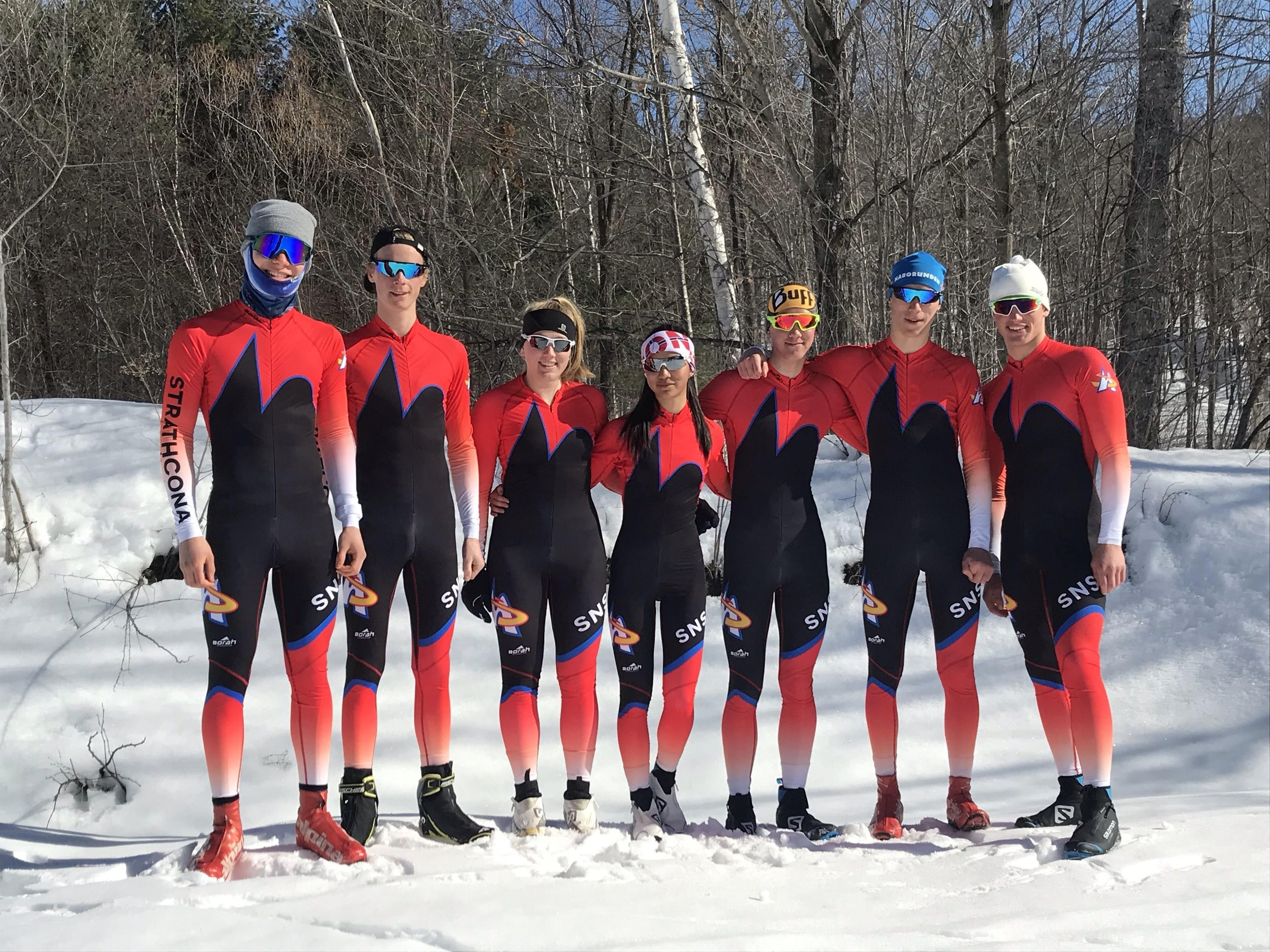 SNSC Junior Racers in their new race suits