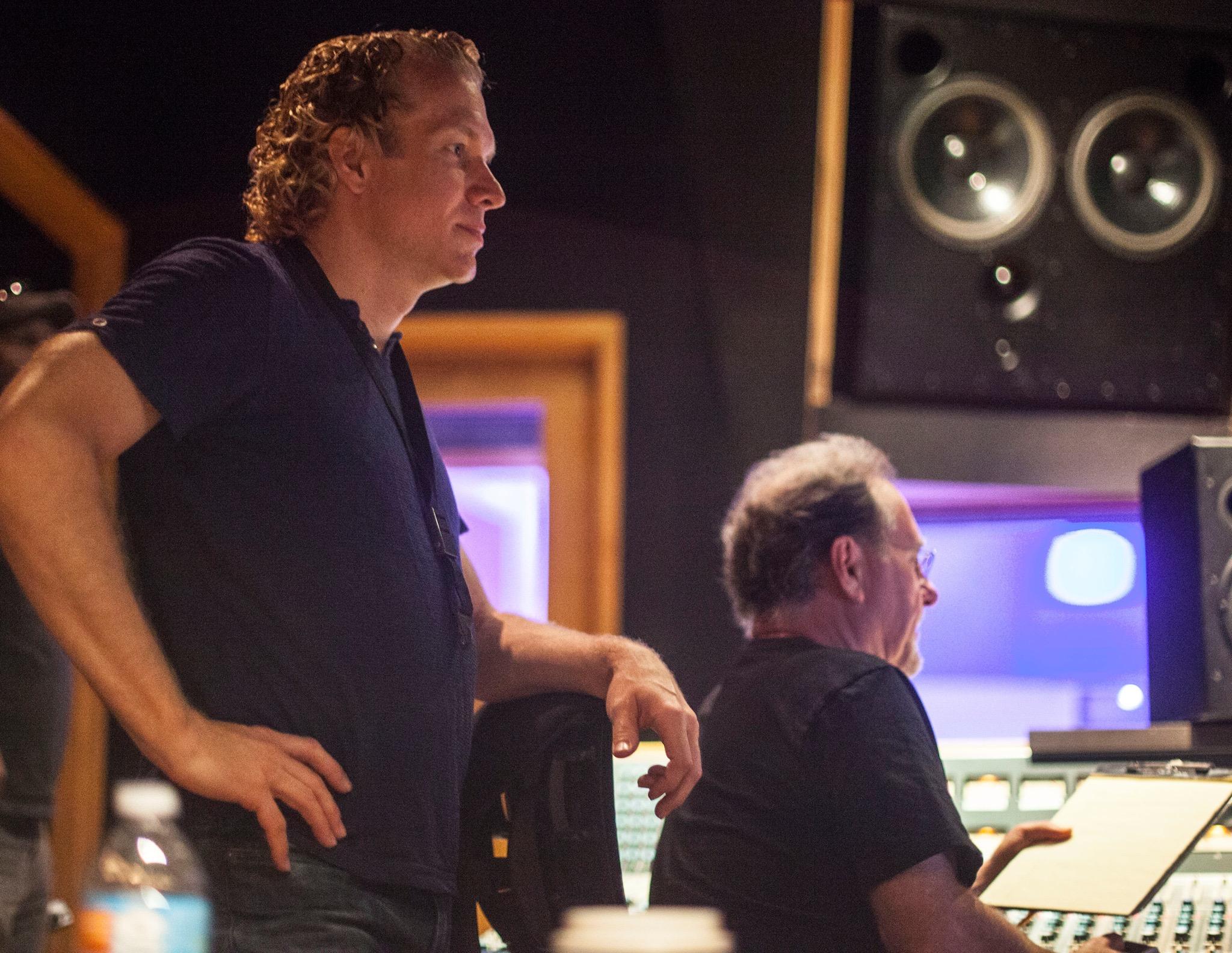 Andrew Neu at Mixing Board
