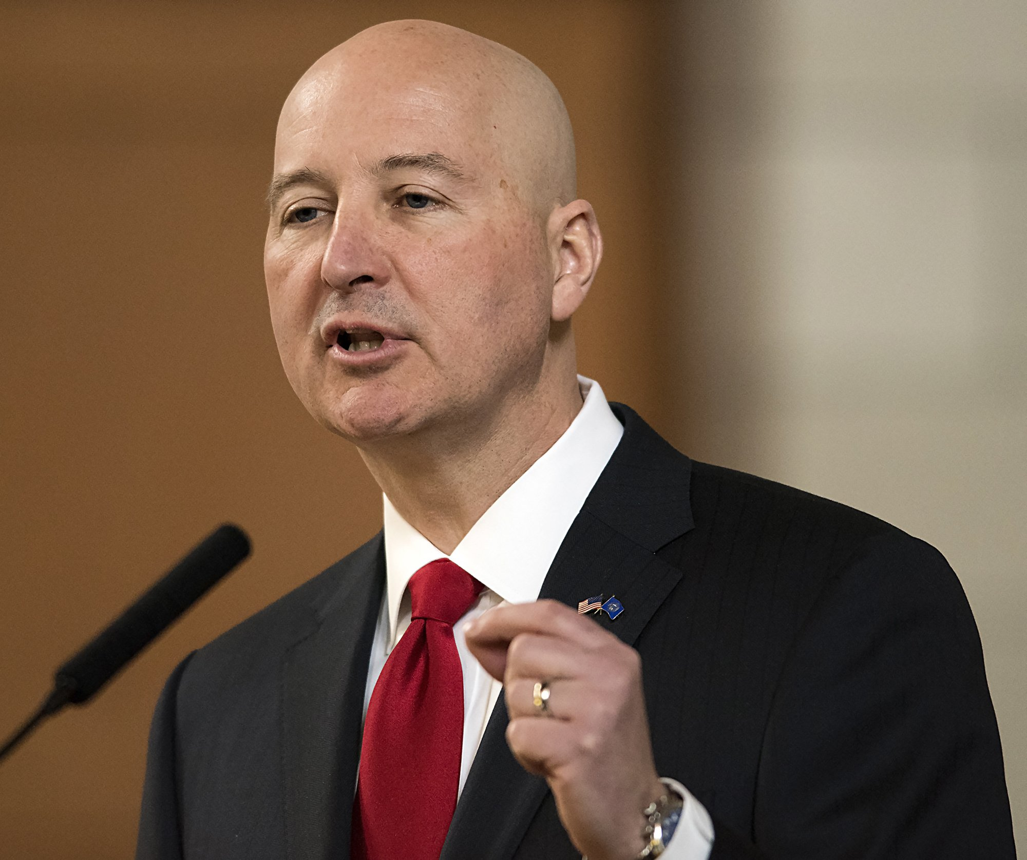Governor Pete Ricketts  Gwyneth Roberts/Lincoln Journal Star via AP