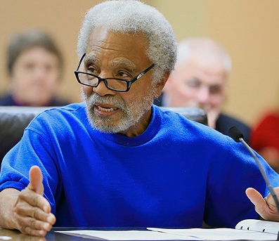 Long-time representative of North Omaha, Senator Ernie Chambers.