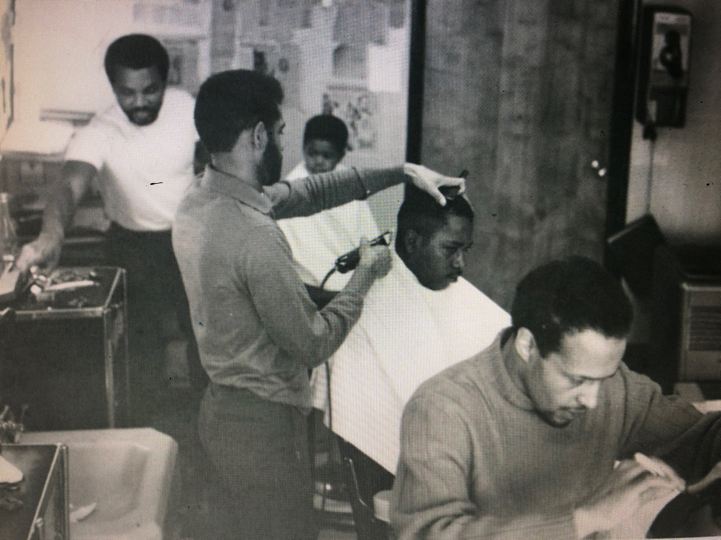 Chambers and Goodwin at Goodwin Barbershop