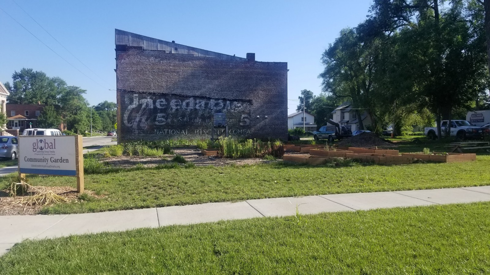 Goodwin Barbershop and Global Leadership Group Community Garden
