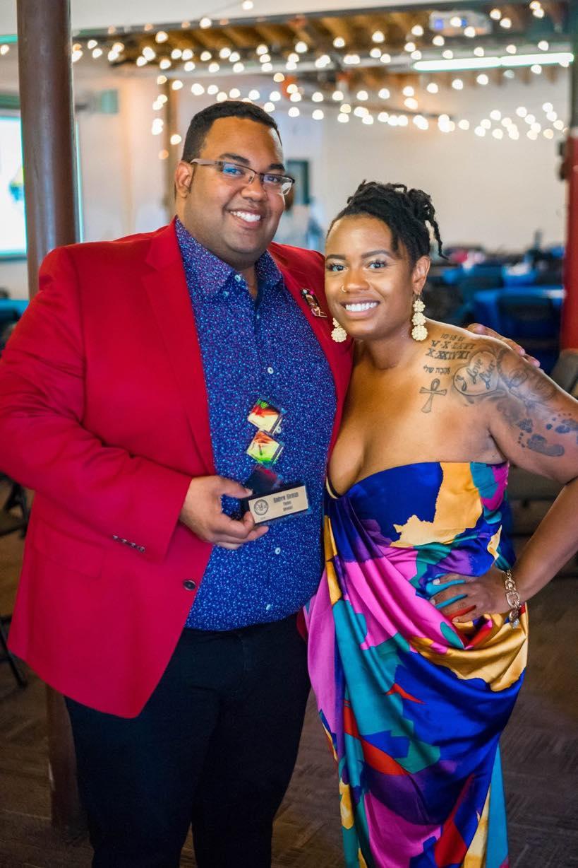 2019 Awardee Andrew Aleman and YBI Founder Ashlei Spivey