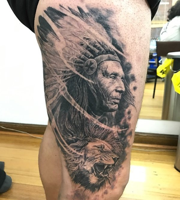 Indian chief and lion.jpg