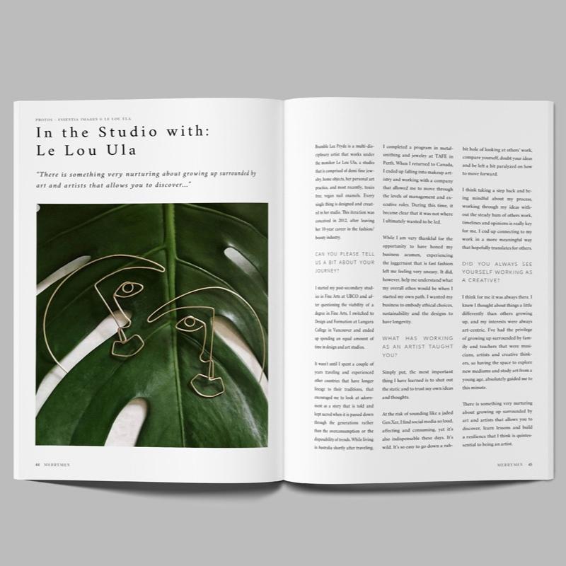 MERRYMEN MAGAZINE - Interview & Editorial Spread Winter 2018/19: In the Studio with Le Lou Ula