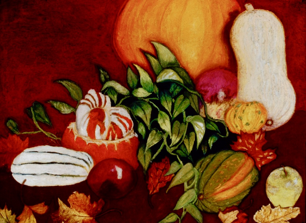 Autumn Table | Chalk Pastel | 1995
