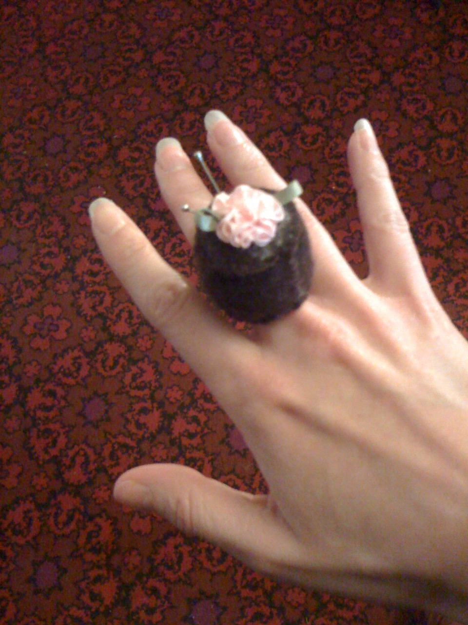 Cake Pincushion Ring