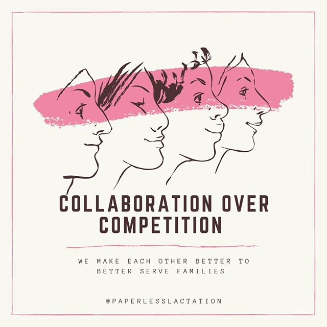 Whether your connections are local, virtual, or a mix of both, we make each other better to better serve families. What are you doing today to improve collaboration between the other lactation consultants and perinatal professionals in your sphere?⁣ .⁣ .⁣ .⁣ .⁣ . ⁣ ⁣ #collaboration #ibclc #ibclcprivatepractice #lactationbusinesscoaching #lactationbusiness #lactationconsultants #collaborationovercompetition