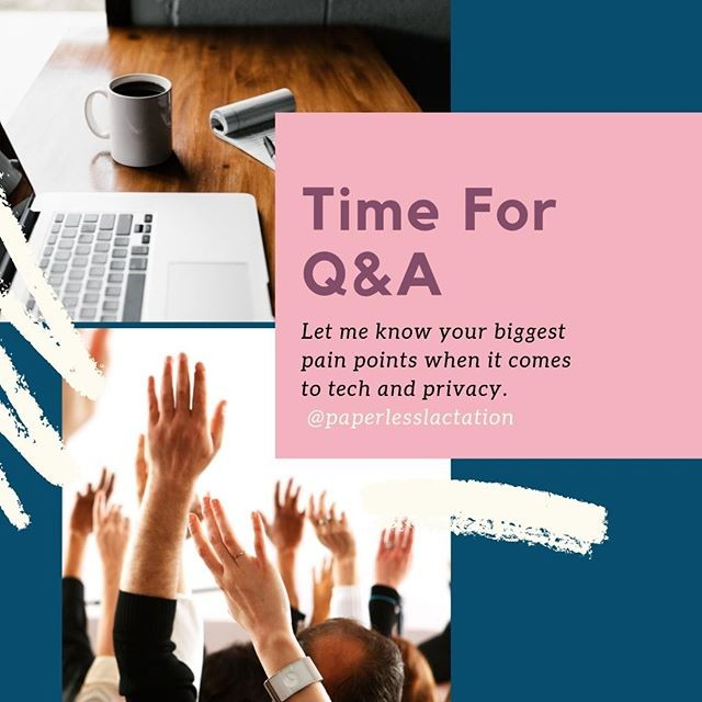 Are you a private practice lactation consultant struggling to make sense of HIPAA, online scheduling, charting and documentation, insurance billing, and general workflow and productivity? I'd love to help!  Post your questions in the comments and I'll give you ideas you can implement today!⁣ .⁣ .⁣ .⁣ .⁣ .⁣ ⁣ #paperlessprivatepractice #workflow #productivity #smallbusiness #entrepreneur #ibclclife #ibclc #privatepractice #lactationconsultant #lcinpp #aintnohobby #privatepracticeibclc #paperlessprivatepractice