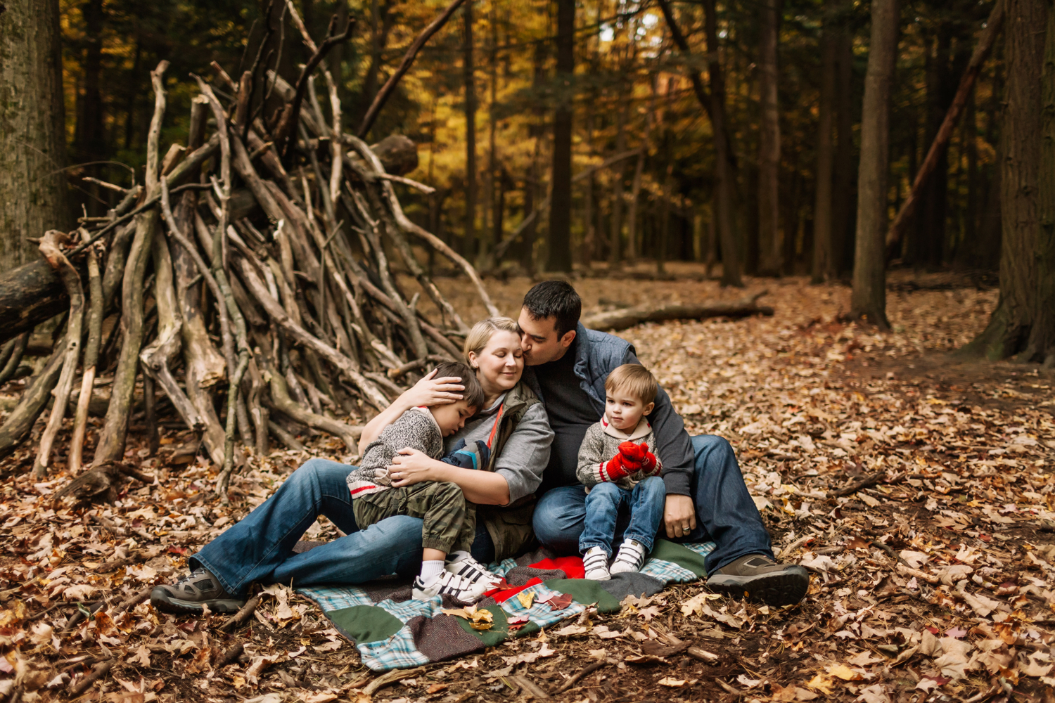 Our little family - captured at our favourite hiking spot in Rouge National Urban Park on a family blanket that was quilted by my Finnish grandmother and great aunt over 60 years ago. Photo credit by crazy talented and dear friend Melissa Maahs Photography.