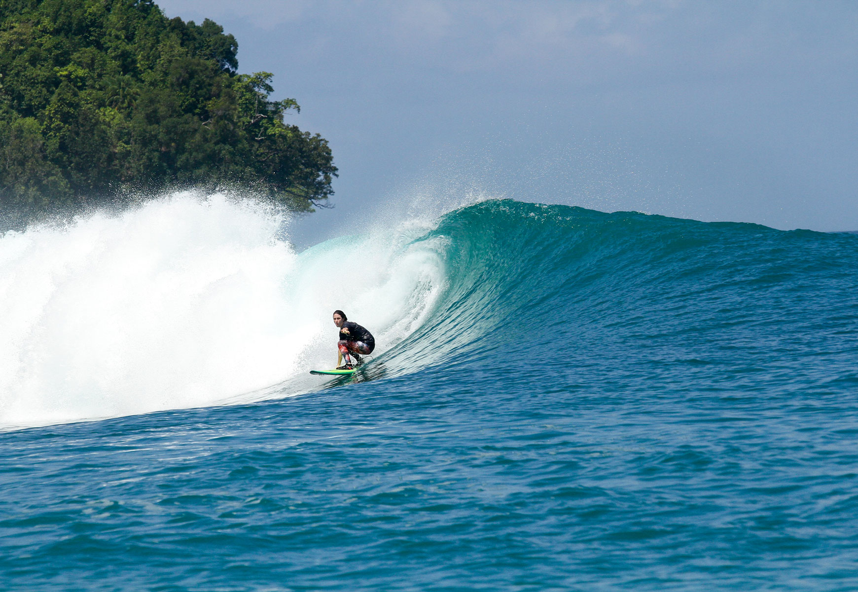 Rahasia: A perfect place to learn to get barreled.