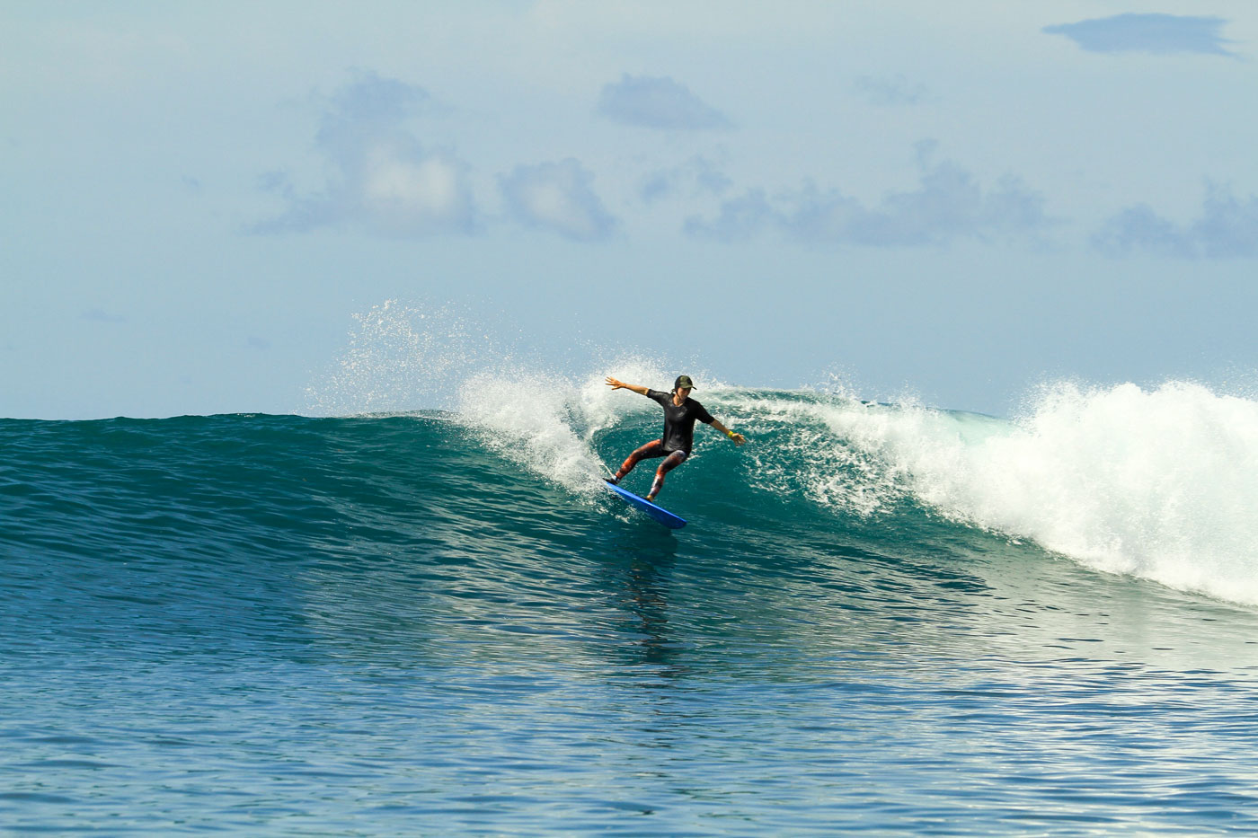 Around the way, there's Tantras which was also a fun, easy wave but a right.