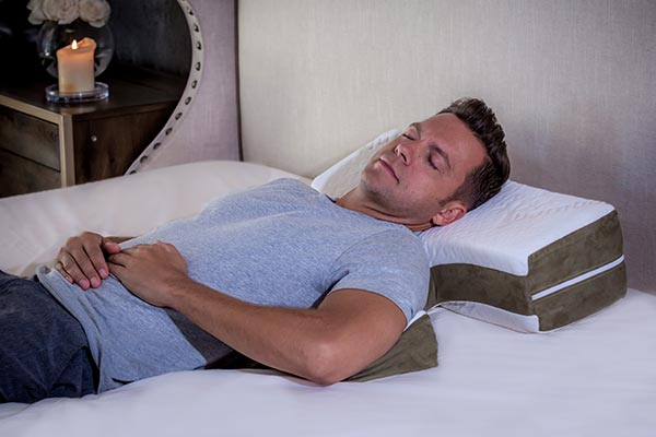 Say Goodnight to Snoring and Heartburn - The Shoulder Pillow is designed to keep your head elevated with your back supported and aligned. This keeps your airways open, which can prevent snoring and acid reflux.