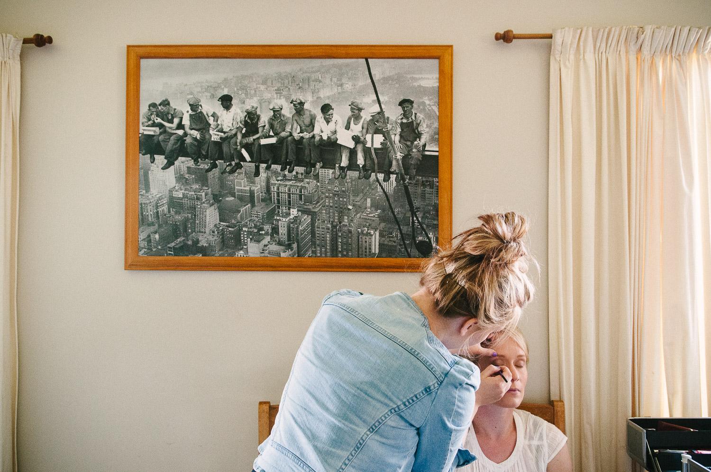 Farm wedding, Christchurch, Nicola hair and makeup.