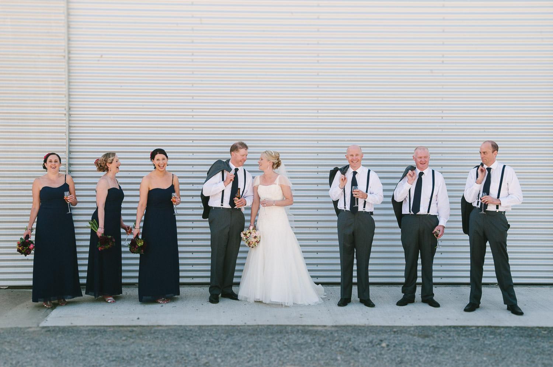 Farm wedding, St Mary's Leeston, Nicola & Nathan and bridal party.