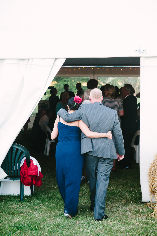 Farm wedding, St Mary's Leeston, couple at Nicola & Nathan's wedding.