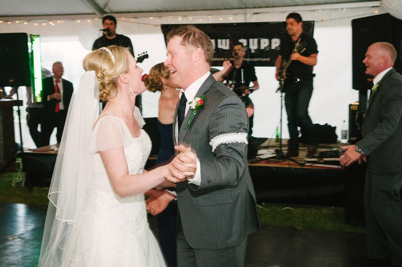 Farm wedding, St Mary's Leeston, Nicola & Nathan first wedding dance.