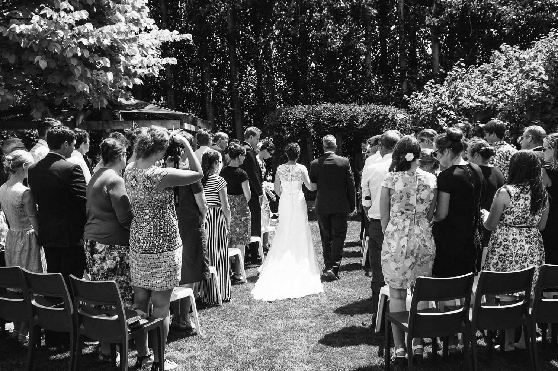 Langdale Vineyard Wedding, Jodie arriving.