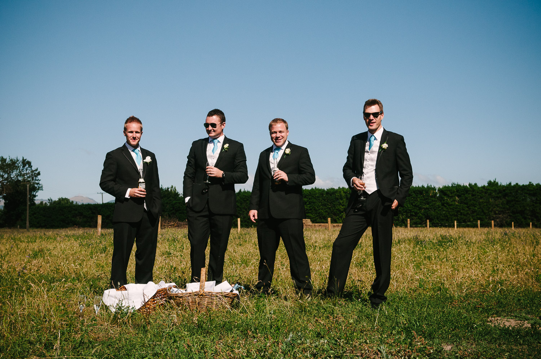 Trent's Estate Vineyard Wedding, Chris and his groomsmen.
