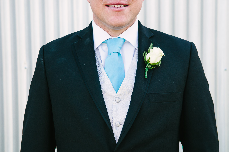 Trent's Estate Vineyard Wedding, Chris smartly dressed on his wedding day.