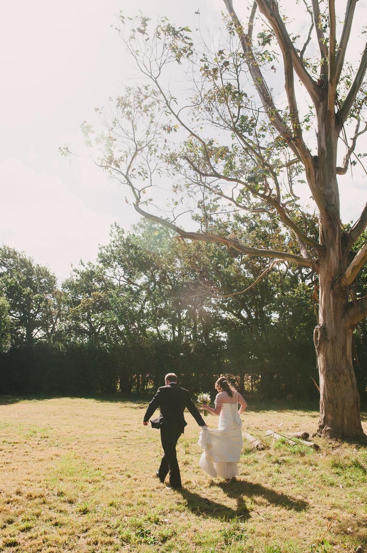 Trent's Estate Vineyard Wedding, Rebecca & Chris together on their wedding day.