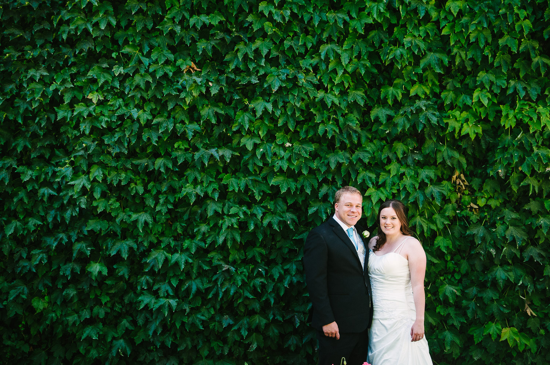 Trent's Estate Vineyard Wedding, Rebecca & Chris portrait on their wedding day.