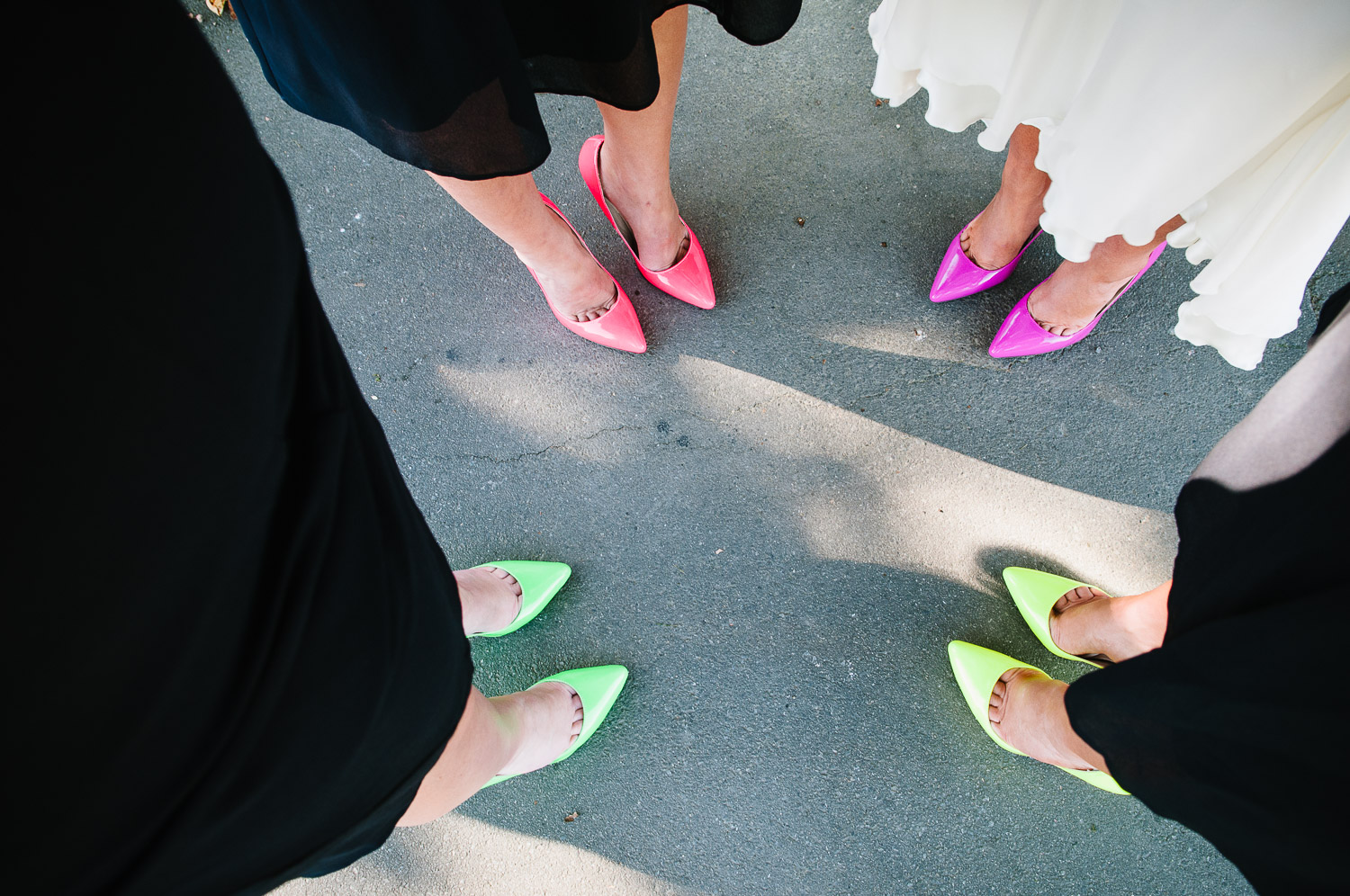 St Mary's Church Wedding Halswell, colourful shoes on Tash & Tim's wedding day.