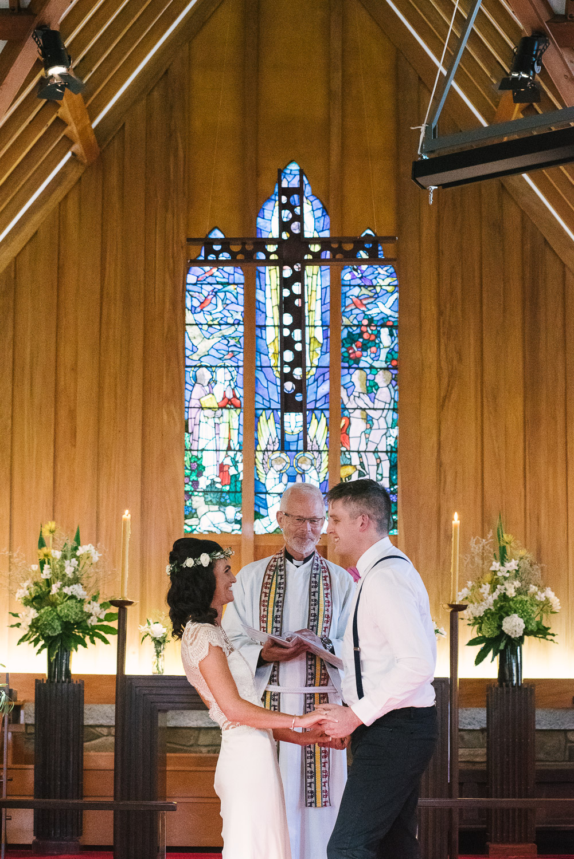 St Mary's Church Wedding Halswell, Tash & Tim exchange vows.