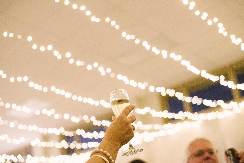 St Mary's Church Wedding Halswell, toasting at Tash & Tim's wedding ceremony.