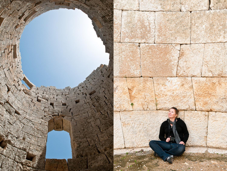 Apakanoy Dhrakanos Tower, Fanari (Faros), Ikaria Island, Aegean Sea, Greece, on the 20 April 2012.