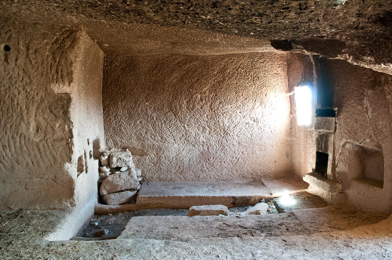 Cave interior Cappadocia, Turkey.